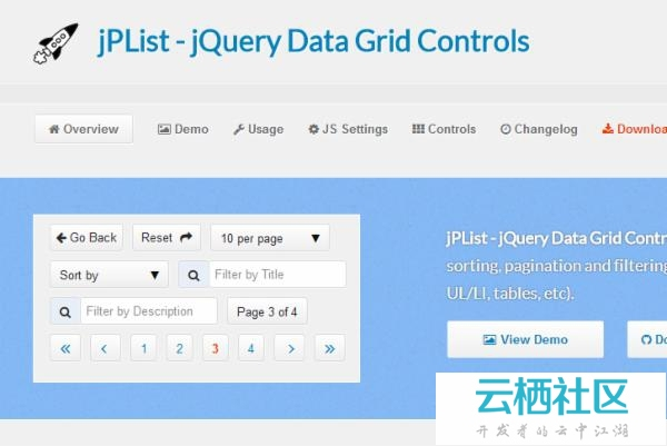 A Flexible jQuery Plugin for Sorting & Pagination